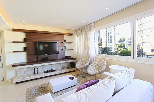 obývák s televizí