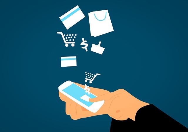 nákupy s mobilem