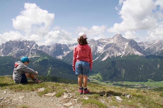 děti v horách